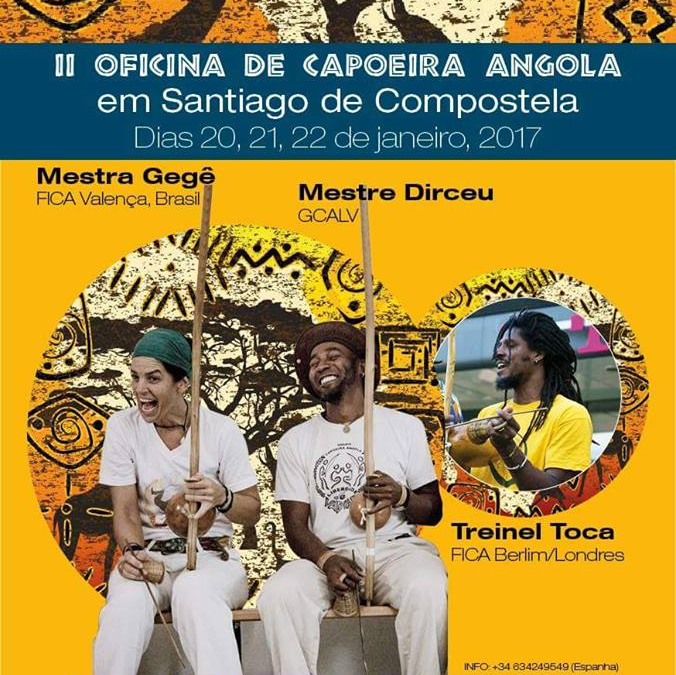 II Oficina de Capoeira Angola en Santiago de Compostela