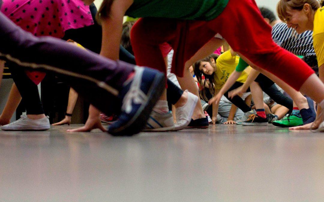 Capoeira con los niños del Colegio Nuestra Señora de la Paloma